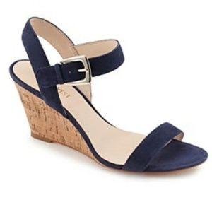 Blue Suede Nine West Wedge Sandals